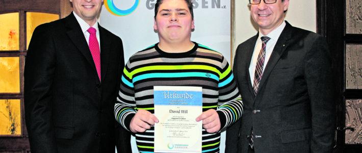 Dawid Will gewinnt Jugendpreis 2016
