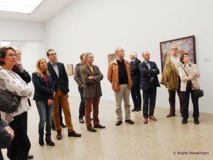 Mitglieder des Themenkreis Wirtschaft beim Besuch des Sprengelmuseums.